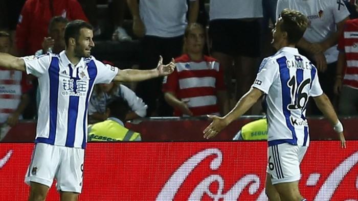 Agirretxe le hizo tres goles al Granada