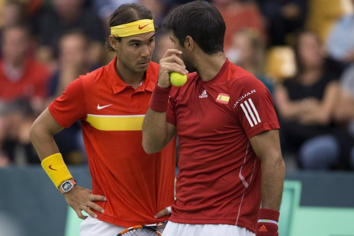 Fernando Verdasco y Rafa Nadal ganan en Copa Davis