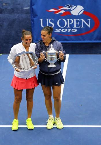 Flavia Penneta y Roberta Vinci en el US Open