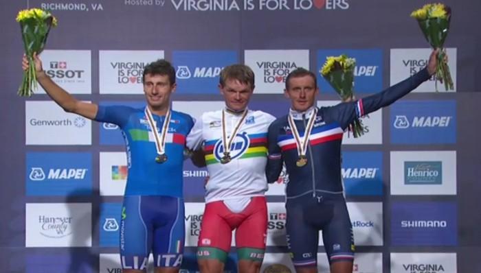 Mundial de ciclismo 2015: el bielorruso Kiryienka gana el oro en contrarreloj