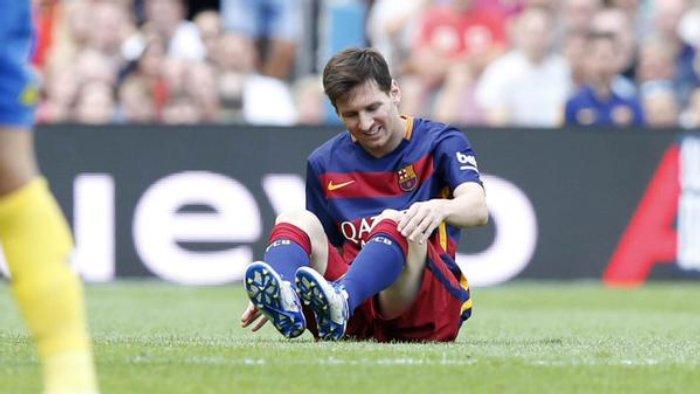 Messi estará dos meses de baja por lesión