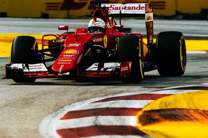Sebastian Vettel en el GP de Singapur