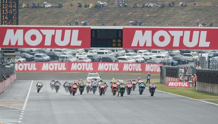 Parrilla de MotoGP durante el GP de Japón