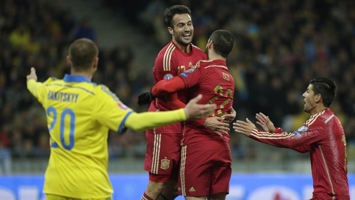 Mario Gaspar debutó con España marcando el gol de la victoria en Ucrania