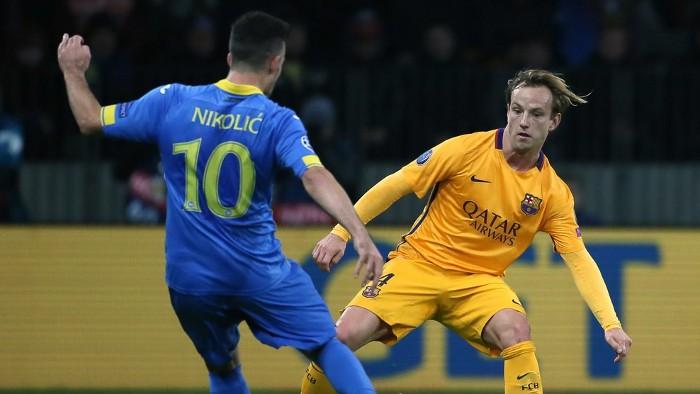 Rakitic marcó los dos goles del Barça en Borisov