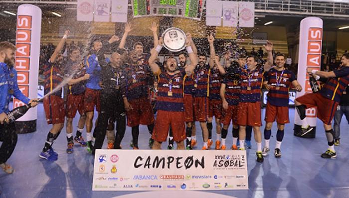 Barcelona Lassa celebra la conquista de una nueva Copa ASOBAL