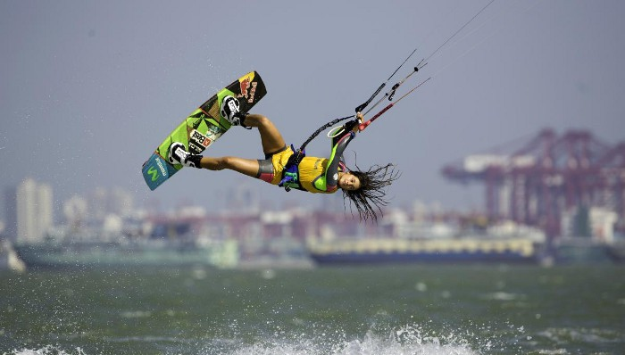 Gisela Pulido es la reina mundial del kitesurf
