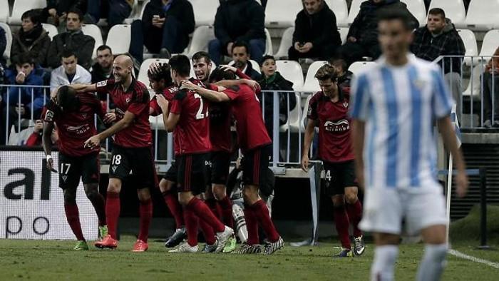 El Mirandés eliminó al Málaga en Copa del Rey