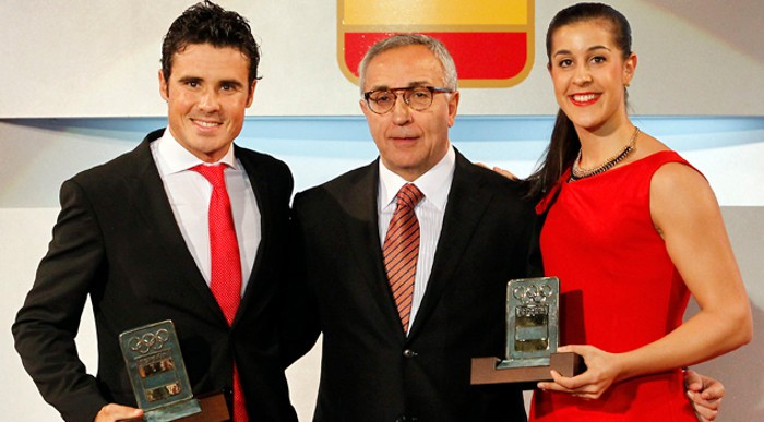 Gómez Noya y Carolina Marín, los mejores deportistas españoles de 2015 según el COE