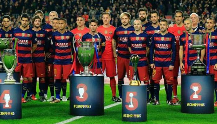 Los cinco títulos del Barcelona en 2015