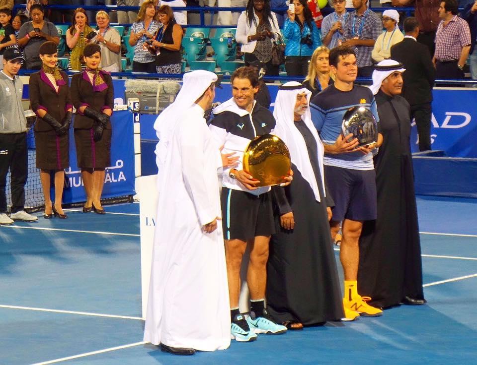 Nadal campeón del torneo de exhibición de Abu Dhabi, Ferrer es tercero