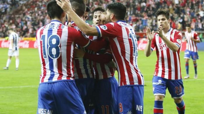 El Sporting cortó su mala racha ante la Real Sociedad