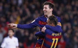 Copa del Rey 2015-2016: el Barcelona le hace siete goles al Valencia