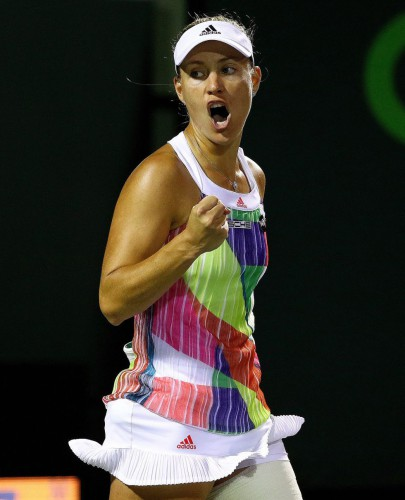Kerber a semifinales en Miami