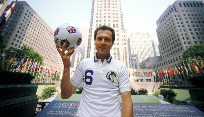 Beckenbauer fue uno de los grandes jugadores del Cosmos