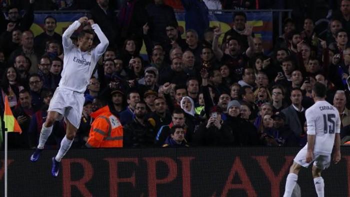 Un gol de Cristiano dio la victoria al Madrid en el Clásico