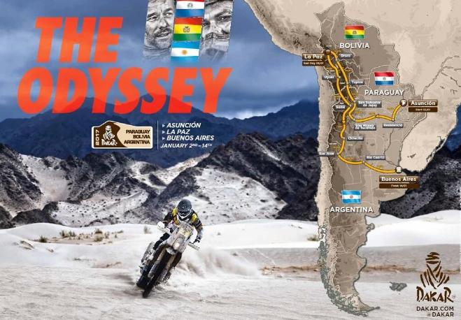 Dakar 2017 - Recorrido detallado
