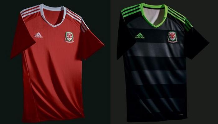 Camisetas de la selección de Gales para la Eurocopa 2016