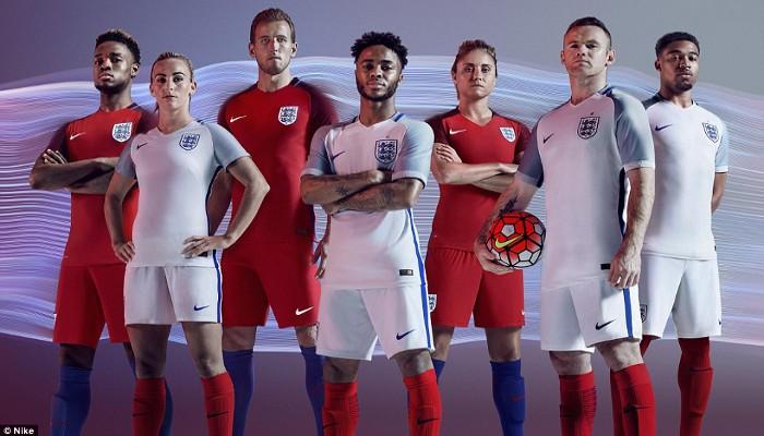 Camisetas de la selección de Inglaterra para la Eurocopa 2016