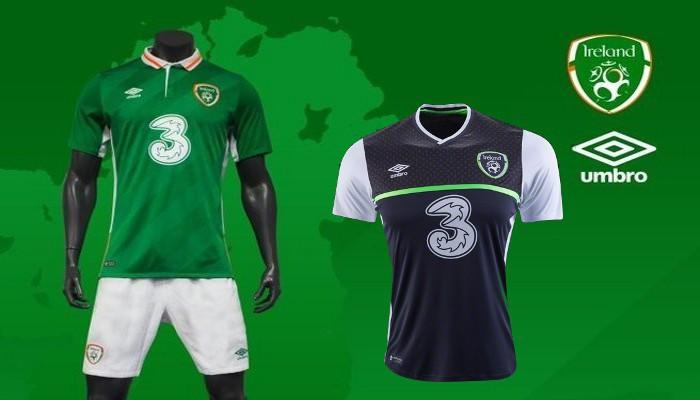 Camisetas de la selección de Irlanda para la Eurocopa 2016