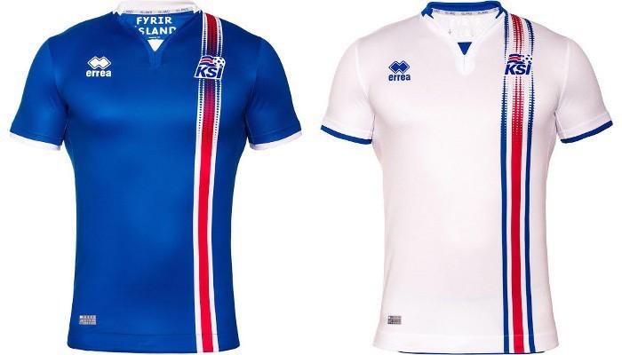 Camisetas de la selección de Islandia para la Eurocopa 2016