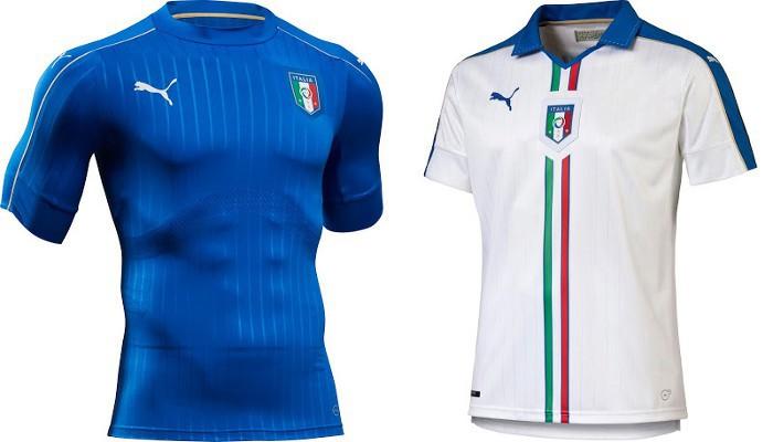 Camisetas de la selección de Italia para la Eurocopa 2016