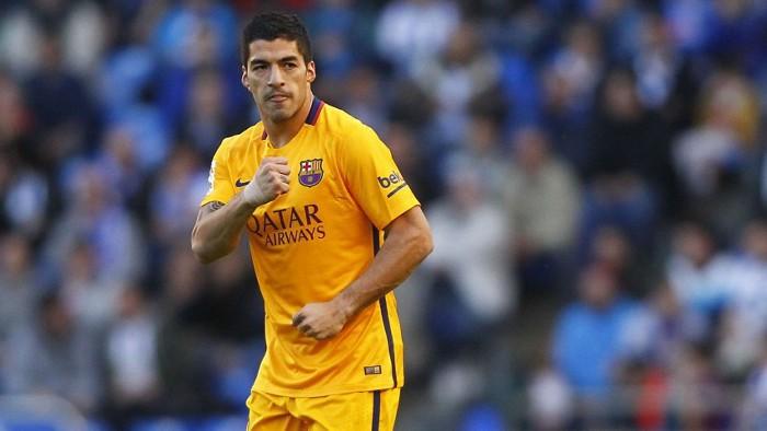 Suárez marcó cuatro goles en la goleda al Depor