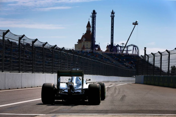 Mercedes en el GP de Rusia