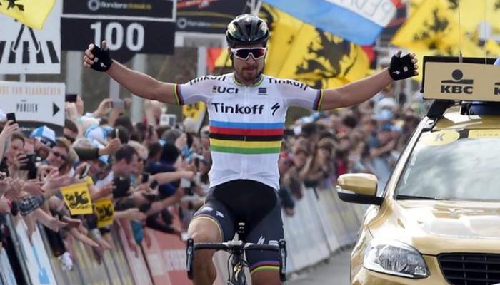 Sagan venció en la edición cien del Tour de Flandes