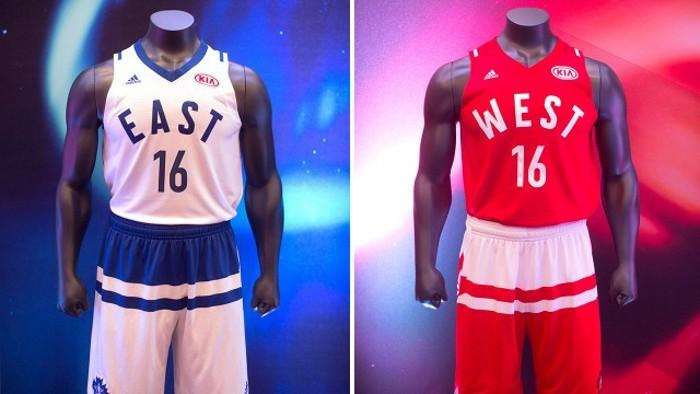 El uniforme del último All Star Game, en el que ya hay publicidad