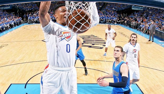 Westbrook lideró en anotación a unos Thunder que eliminan a los Mavs