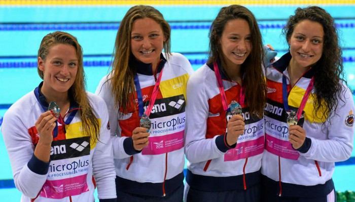 España volvió del Europeo de natación con 9 medallas