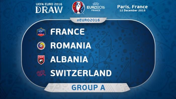Francia, Albania, Rumanía y Suiza forman el Grupo A de la Eurocopa
