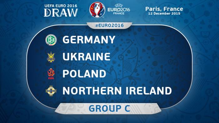 Alemania, Ucrania, Polonia e Irlanda del Norte forman el Grupo C