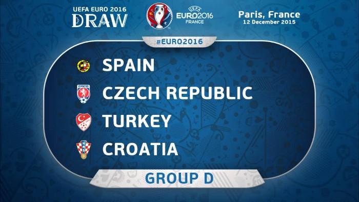 España jugará en el Grupo D de la Eurocopa