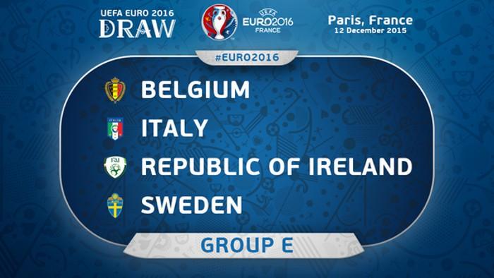 Bélgica, Italia, Irlanda y Suecia se miden en el Grupo E