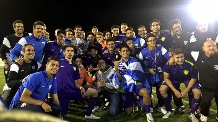 El Málaga juvenil gana la Copa de Campeones de 2016