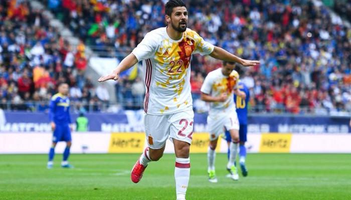 Dos goles de Nolito ante Bosnia le aseguran el puesto en la Eurocopa
