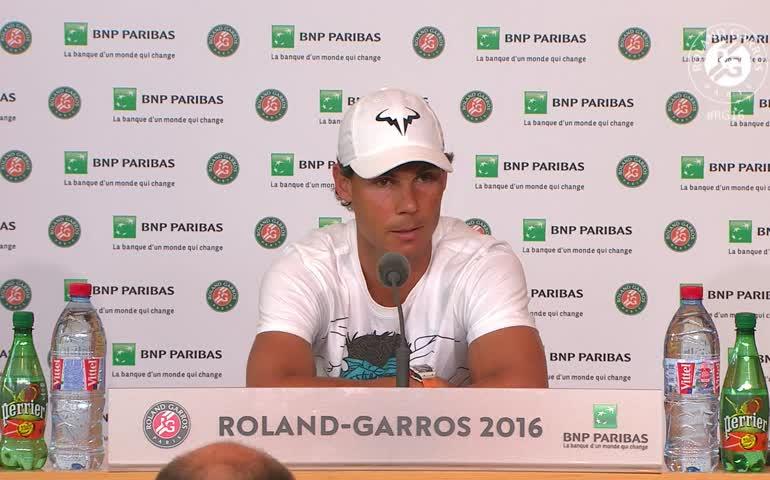 Rafa Nadal se retira de Roland Garros por lesión a la muñeca