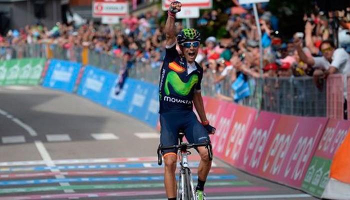Alejandro Valverde se impuso en la etapa 17 del Giro