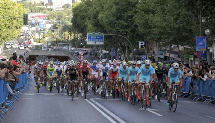 La llegada a Madrid del pelotón en la Vuelta a España 2015