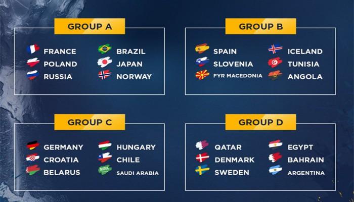 Así será la fase de grupos del Mundial de balonmano 2017