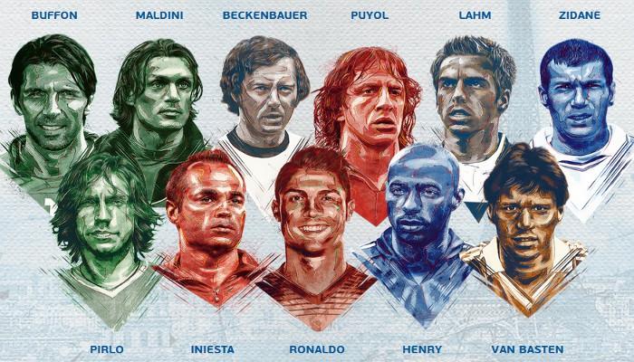 Éste sería el once ideal de la historia de la Eurocopa