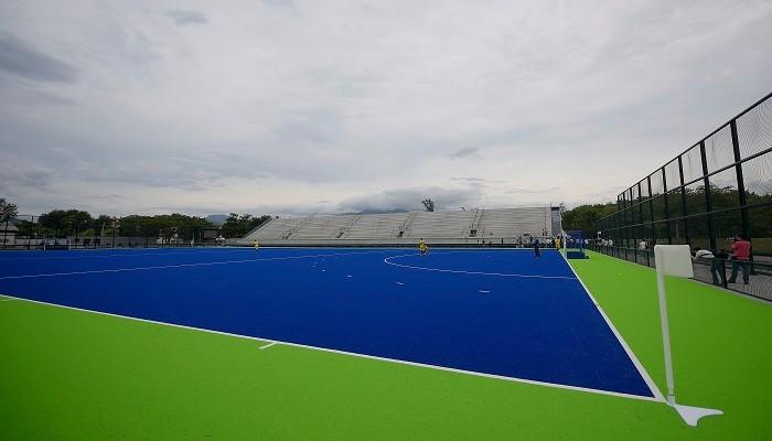 Éste es el Centro Olímpico de Hockey de Río 2016, construido para la ocasión