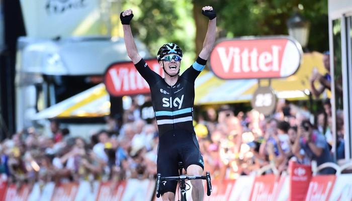Froome ganó en solitario la octava etapa del Tour