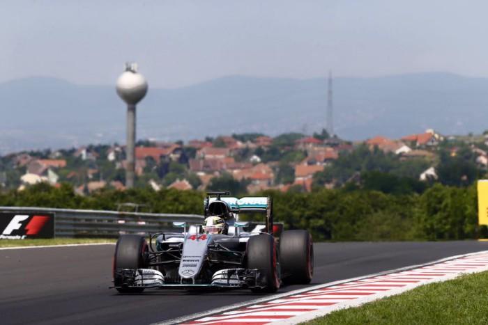 Lewis Hamilton en el GP de Hungria
