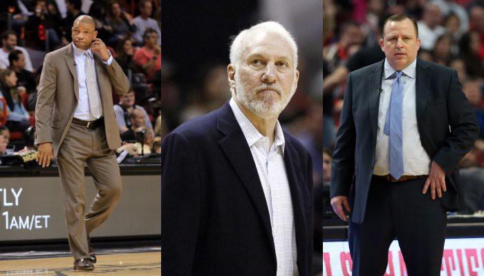 Popovich, Rivers y Thibodeau son los entrenadores mejor pagados de la NBA