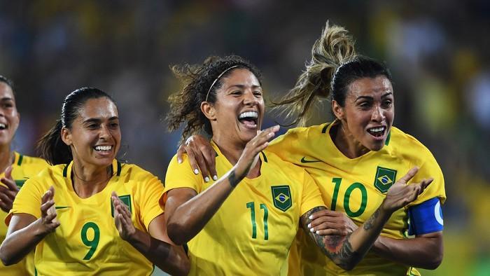 La selección brasileña femenina camina con paso firme hacia el oro