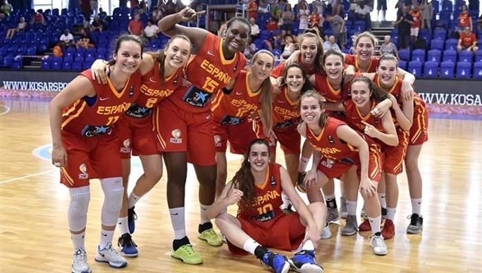 Plata para la U18 femenina en el Europeo de baloncesto de 2016