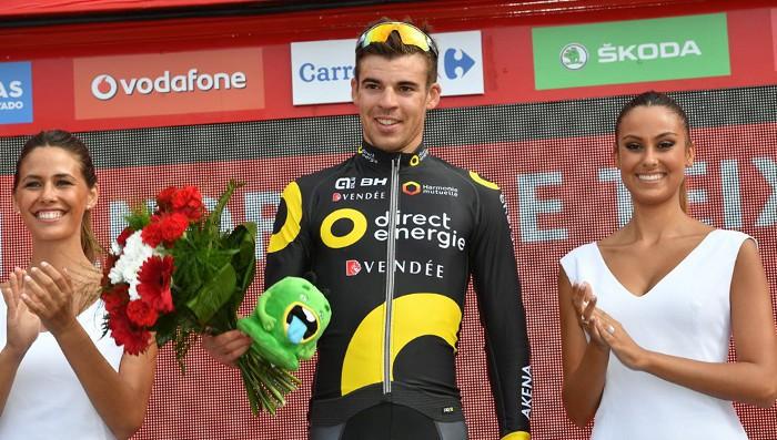 El francés Calmejane logró su primera victoria profesional en la Vuelta